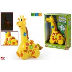 Žirafa su šviesom ir garsais