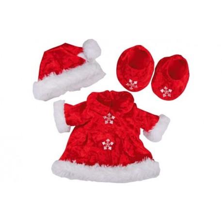 Design a Bear Mrs Santa Outfit Lėlių Drabužiai